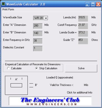 Waveguide Calculator